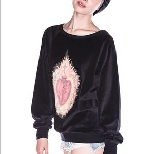 Wildfox Burning Sacred Heart Barcelona Jumper